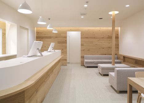 Nordick style reception area for Fuji Pharmacy by Ogawa Architects