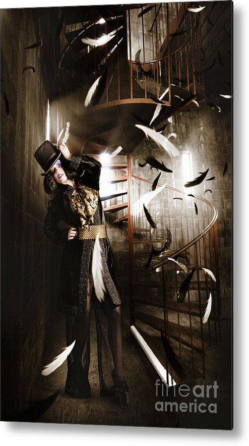 Fashion Metal Print featuring the photograph Dark Fashion Girl Making Magic And Mystery Wish by Jorgo Photography - Wall Art Gallery