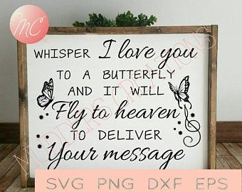 Download SVG DXF & PNG Whisper I Love You to a Butterfly   Etsy in ...