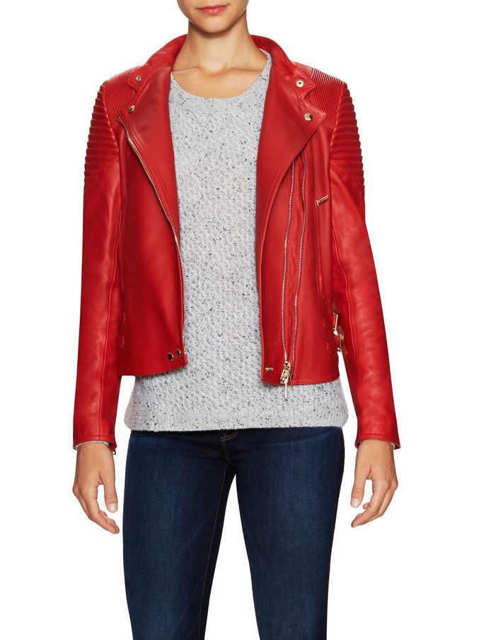 Leather Motorcycle Jacket from Splurge-Worthy Apparel Feat. Saint Laurent on Gilt