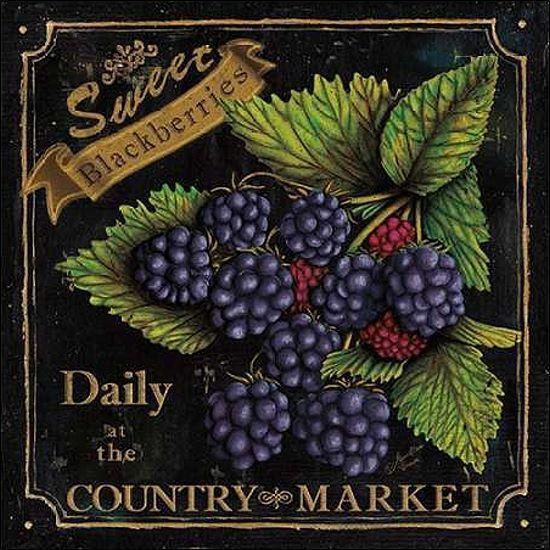 Marie-Elaine Cusson: Country Market III Keilrahmen-Bild Leinwand Obst Küche Deko