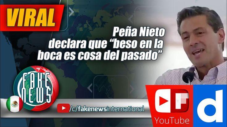 """Peña Nieto declara que """"beso en la boca es cosa del pasado"""""""