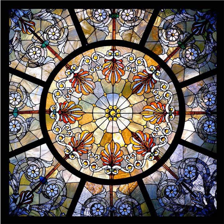 Adding a stained glass dome to your structure is sure to provide luminous beauty and create an additional light source that brightens a space or creates a dramatic mood. Stained Glass Dome #102