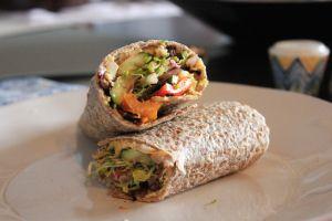 Grilled Vegetable Hummus Wrap   Recipes 19   Pinterest   Hummus Wrap ...