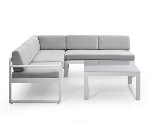 Hjørnesofa i aluminium - Modell Freestyle | Norges største nettauksjon