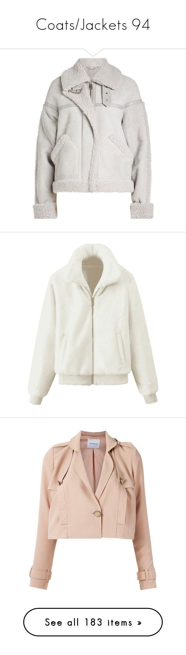 """""""Coats/Jackets 94"""" by singlemom ❤️ liked on Polyvore featuring outerwear, jackets, coats, coats & jackets, grey, gray jacket, suede aviator jacket, grey suede jacket, grey jacket and grey suede leather jacket"""