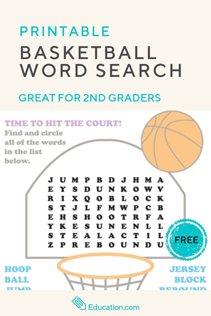 medium resolution of Basketball Word Search   Worksheet   Education.com   Education.com