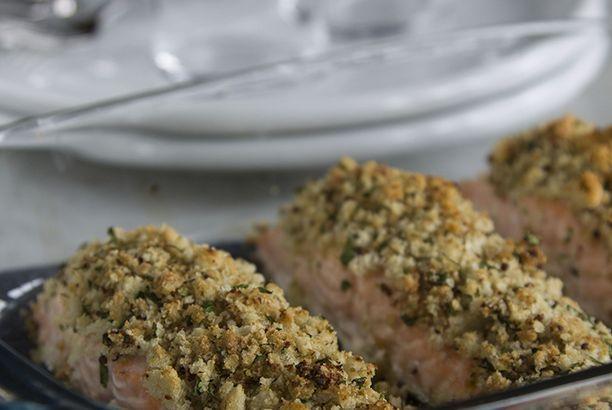 Filetti di salmone con senape e lime
