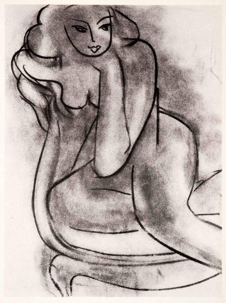 1969 Matisse charcoal
