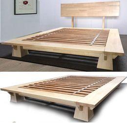 platform beds low platform beds japanese solid wood bed frame - Wooden Bed Frame