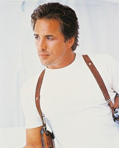 """Sonny Crockett""-- Don Johnson  Love those GUNS!"