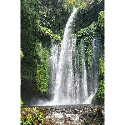 Waterfall on Lombok island, Bali. #waterfall #nature #bali