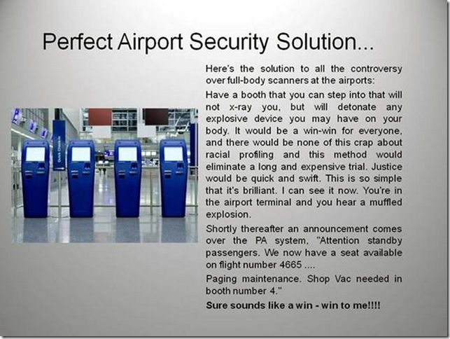 TSA Manual - Alternative Airline Security Regulations, Screening Restrictions and Liquids Rules