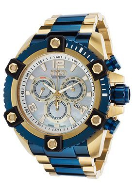 Men's Reserve 18K Gold-Plated Steel Chronograph Grey MOP Dial