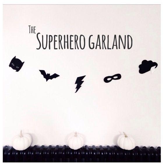 Superhero Garland by VelveteenBabies on Etsy UK not London