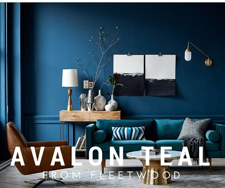 Beautiful deep colour scheme using 'Avalon Teal' from Fleetwood Paints.