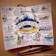 13 Creative Bullet Journal Ideen für das Reisen