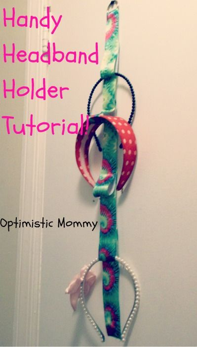 Headband Holder... It works great! AND if you don't glue the back of the loops down then you get twice as many loops... Some on the front and some one the back. :)