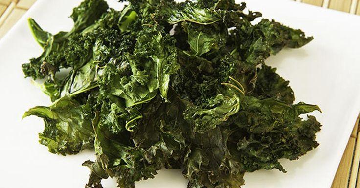 Klicka här för receptet på krispiga grönkålschips Klicka här för receptet på krispiga grönkålschips