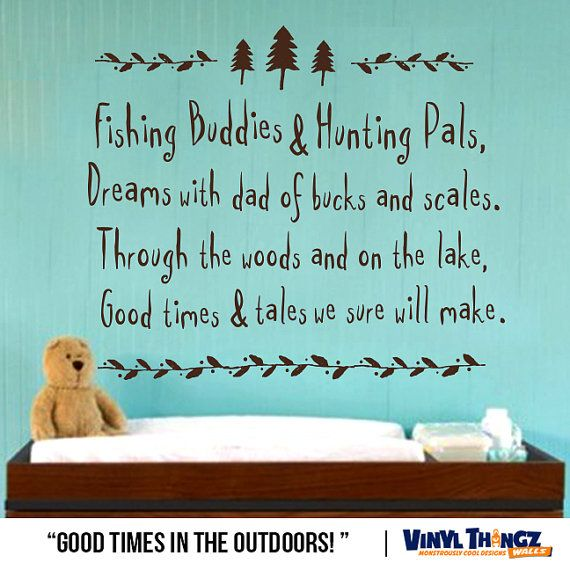 Hey, I found this really awesome Etsy listing at https://www.etsy.com/listing/204057147/wall-decals-nursery-hunting-fishing-deer