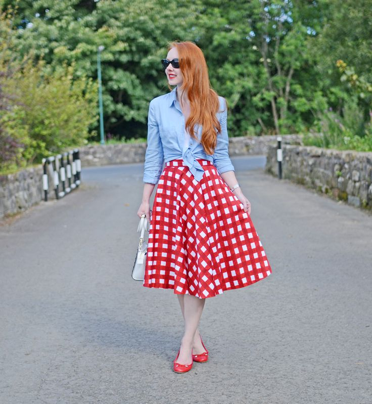 red gingham skirt day 2016 asos scottish fashion and blog