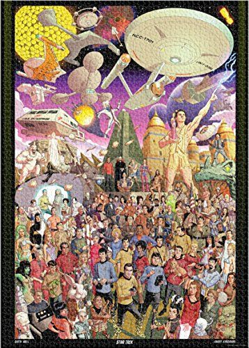 Commemorate the 50th anniversary of Star Trek with this 3000 piece jigsaw puzzle created by artist Dusty a bell. It features 123 individual characters from the 79 regular season episodes as well as the pilot. See how many you can identify! the puzzle measure 32 x 45 when... more details available at https://perfect-gifts.bestselleroutlets.com/gifts-for-teens/toys-games-gifts-for-teens/product-review-for-aquarius-star-trek-50th-anniversary-3000-piece-jigsaw-puzzle/