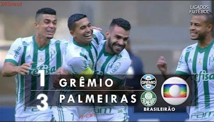 Gols - Grêmio 1 x 3 Palmeiras - Brasileirão 2017 - Globo HD 60 fps