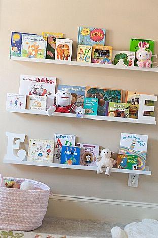 Chapin Group Interiors-Ikea Ribba picture ledges make great bookshelves