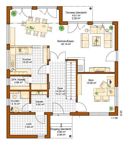 Haus bauen ideen grundriss einfamilienhaus  48 besten Grundriss ideen Bilder auf Pinterest | Haus grundrisse ...