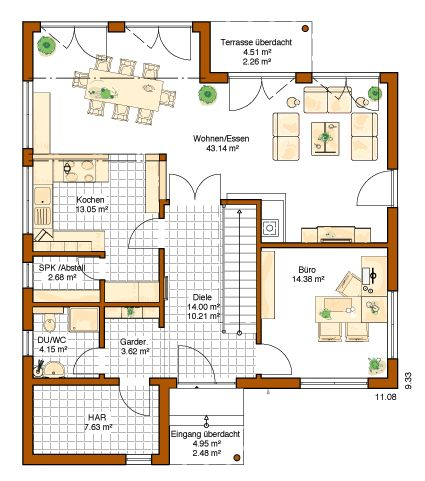 Rensch haus plus energie haus musterhaus avenio for Wohnung design studium