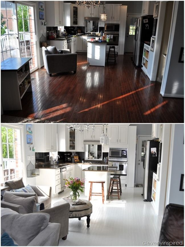 how to paint prefinished hardwood floors reveal @cleverlyinspired (7)
