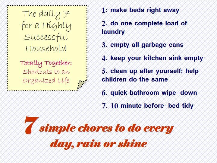 the daily 7 for a highly successful household - How Do I Declutter My House