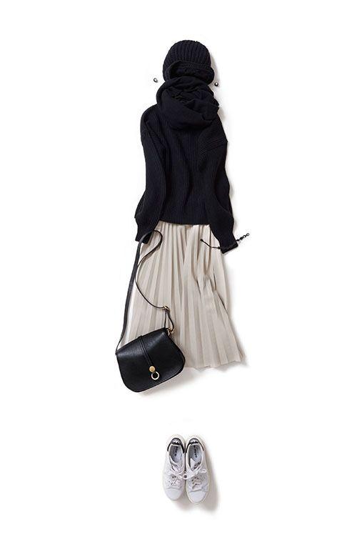 Kyoko Kikuchi's Closet #kk-closet 黒ニットをHappyなムードで着る気分