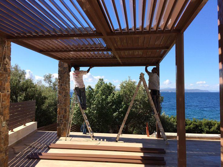 Pergola Europa με κινητά πτερύγια... http://alouminia-koufomata.gr