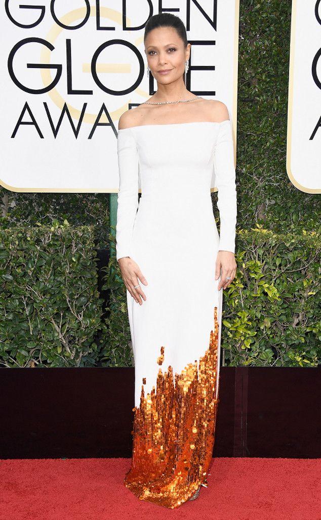 Thandie Newton from 2017 Golden Globes Red Carpet Arrivals