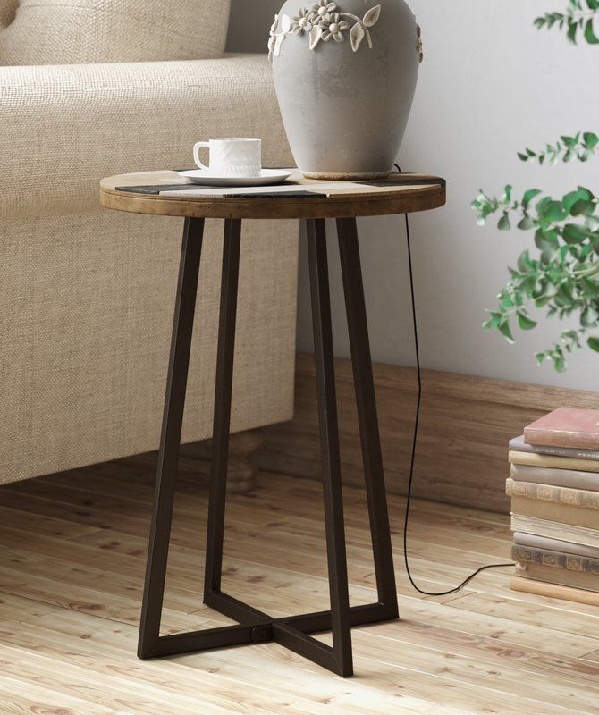 Union Rustic Tisbury End Table In 2020 End Tables Metal End
