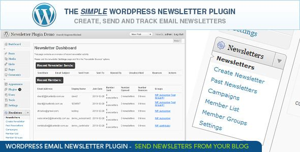 WordPress Email Newsletter Plugin - CodeCanyon Item for Sale