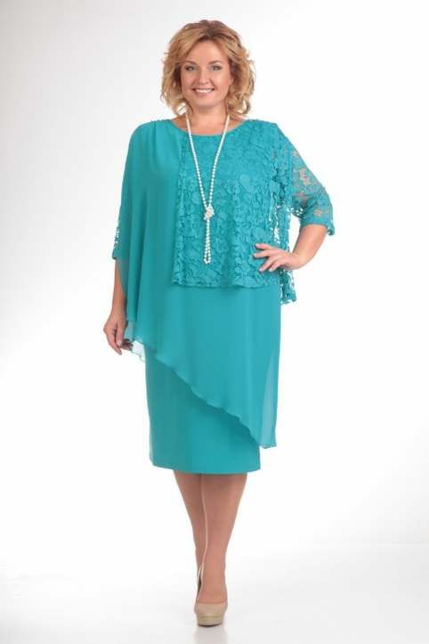 Нарядные платья для полных женщин белорусской компании Pretty. Весна 2016