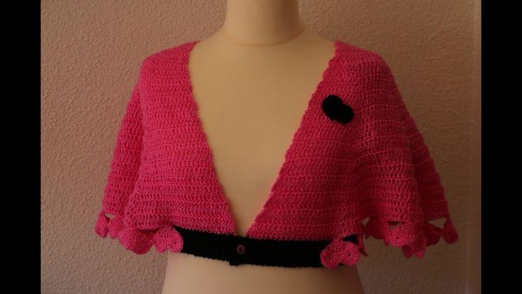 Como hacer una romantica y elegante capita a crochet