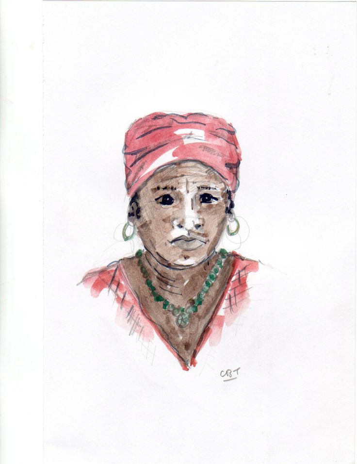 Garifuna woman, Hopkins, Belize.  Hopkins is a really nice village - visit it now before it changes too much!
