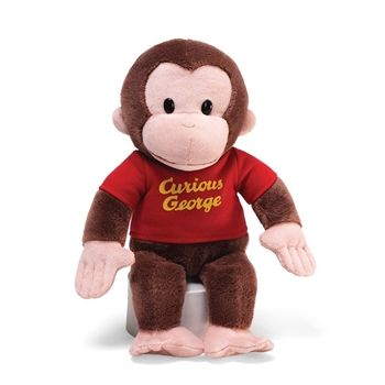 Small Curious George Stuffed Animal with Red Shirt by Gund