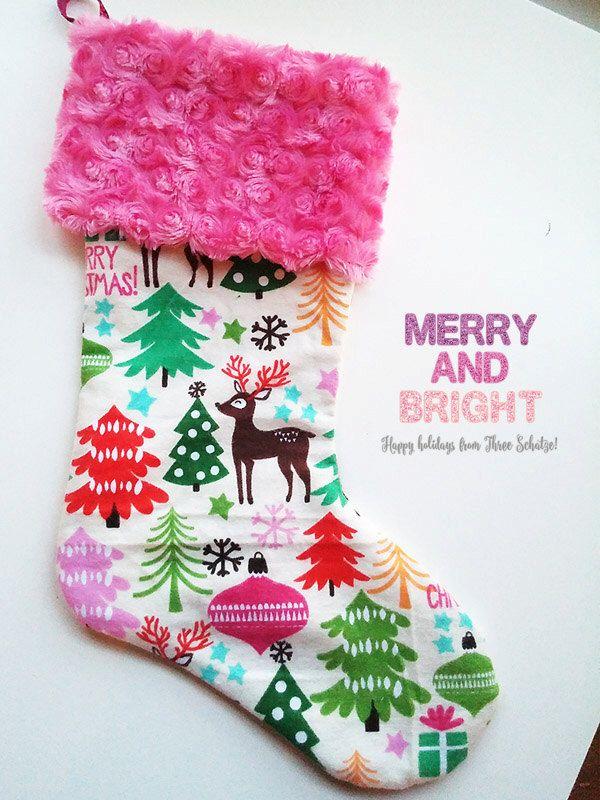 Kids Christmas Stocking - Christmas Stockings - Holiday Stocking - Christmas Decoration - Handmade Stocking  - Xmas Stocking - Custom Gift by ThreeSchatze on Etsy https://www.etsy.com/listing/253567302/kids-christmas-stocking-christmas