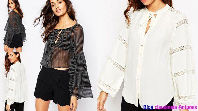 d8e83802f 90 Modelos de Blusas Femininas que esta na Moda   carol   Blusas ...