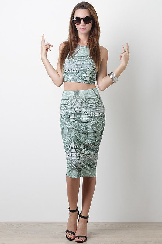 #CropTop #Urbanog #pencil skirt