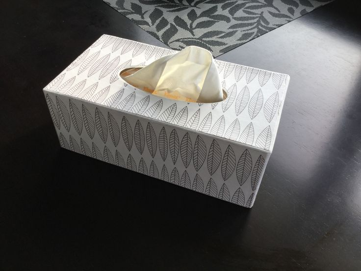 Tissue box cover. Really happy with my first decoupage project!