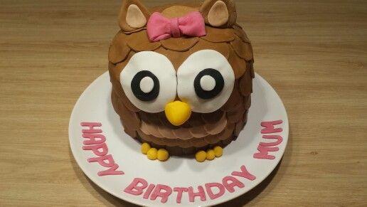 Cake birthday mum chouette