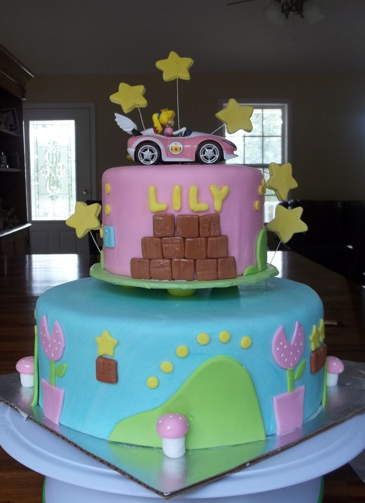 14 Best Images About Girl S Mario Cake On Pinterest