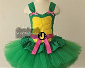 Pink Turtle Ninja Costume - Teenage Super Hero Birthday Party Tutu Dress - Child Halloween Outfit - Pageant - Mutant Cake Smash