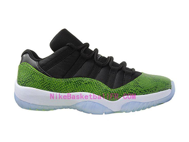 NikeBasketballfr.com - Chaussure Basket Homme Nike Air Jordan 11 Retro Low  Nightshade Vert Pas