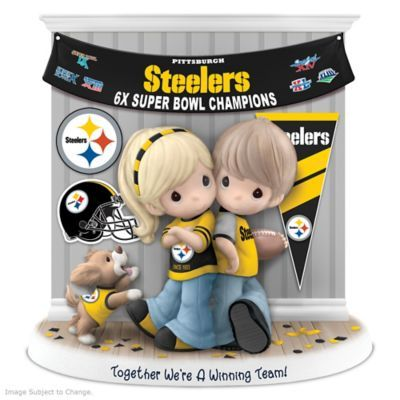 Limited-edition figurine honors the Pittsburgh Steelers 6 Super Bowl wins and your relationship. Handcrafted of fine bisque porcelain. NFL licensed!
